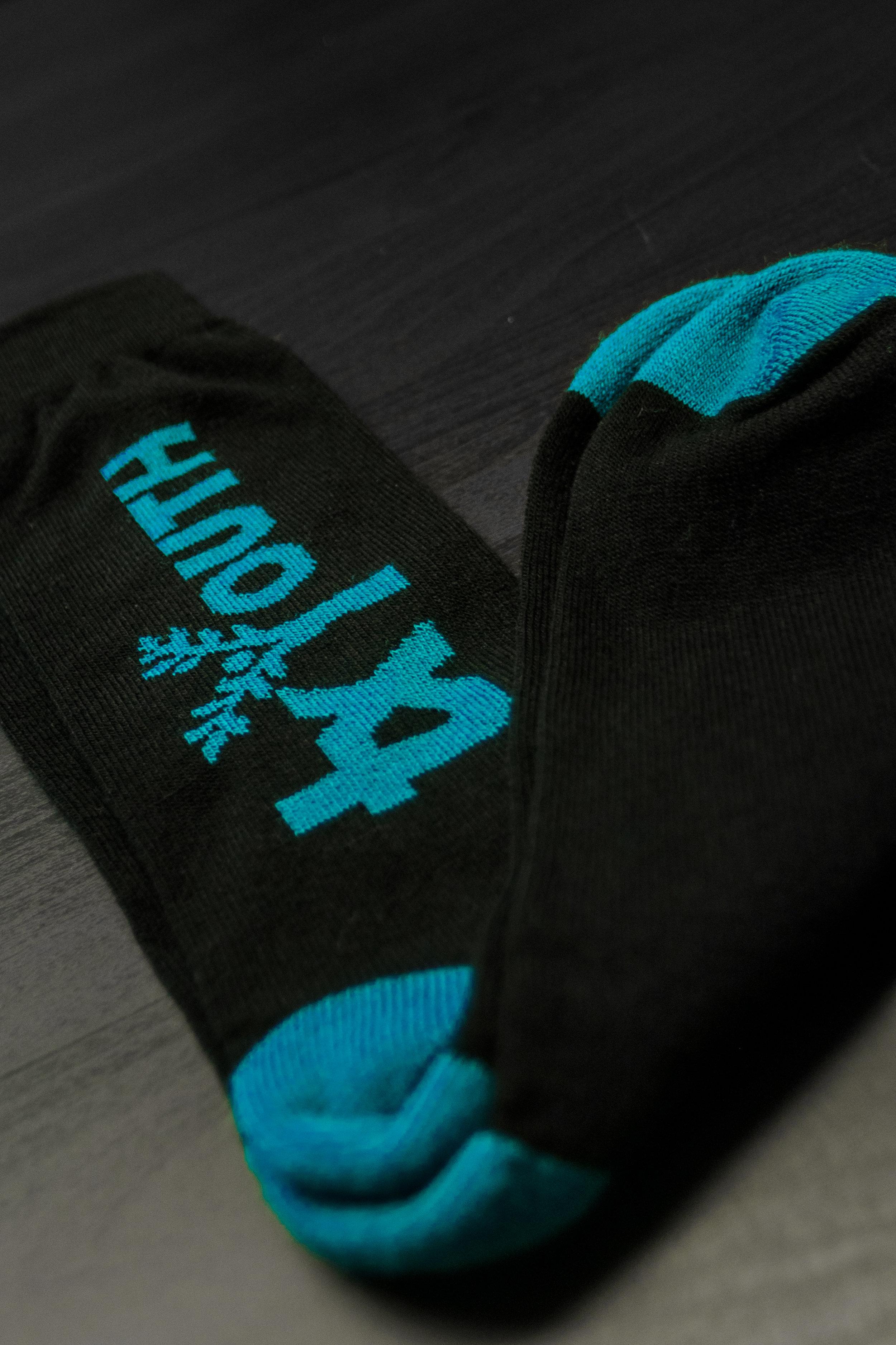 TX YOUTH -  BLUE LOGO SOCKS    $10.00