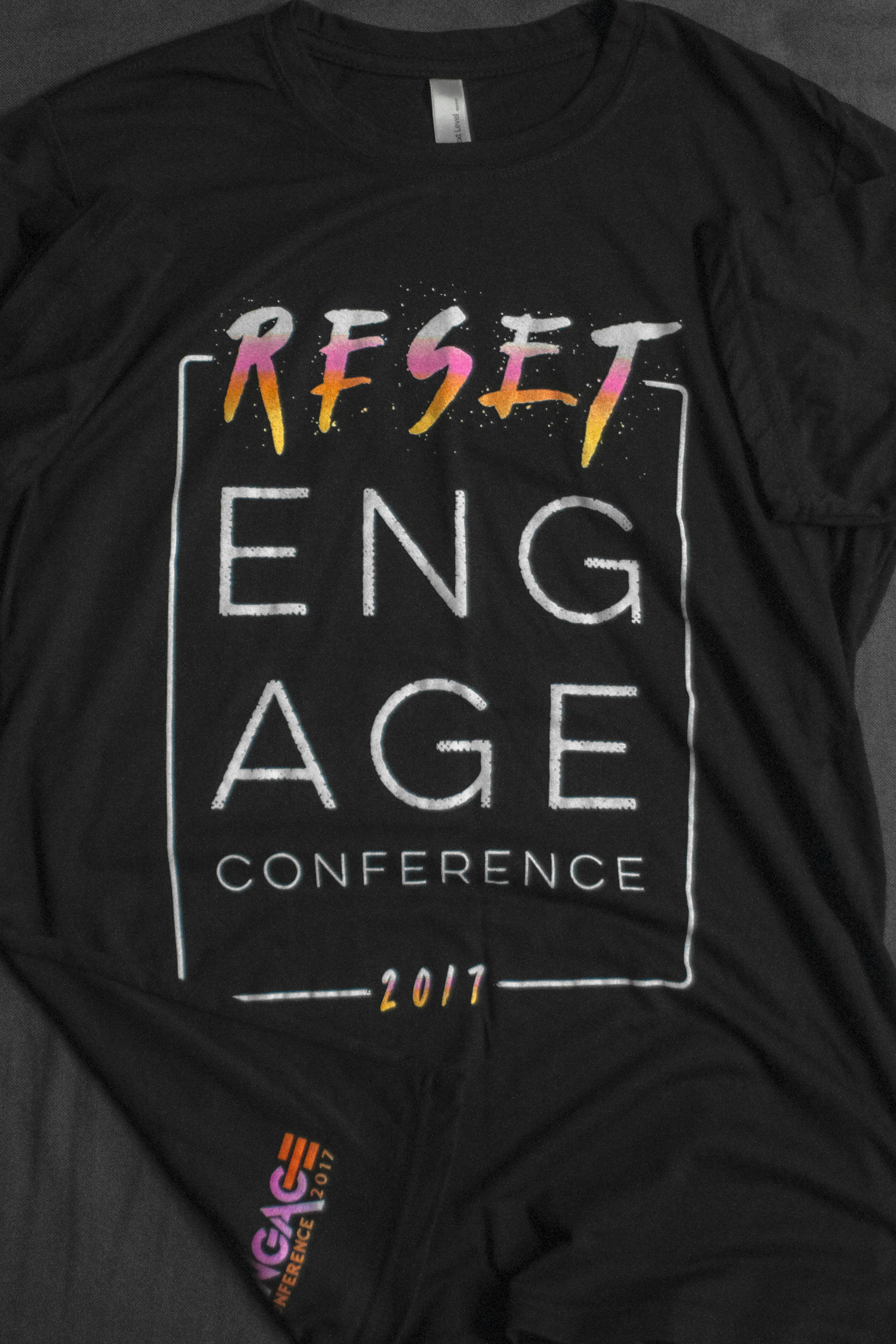 ENGAGE CONFERENCE -  RESET TEE    $10.00