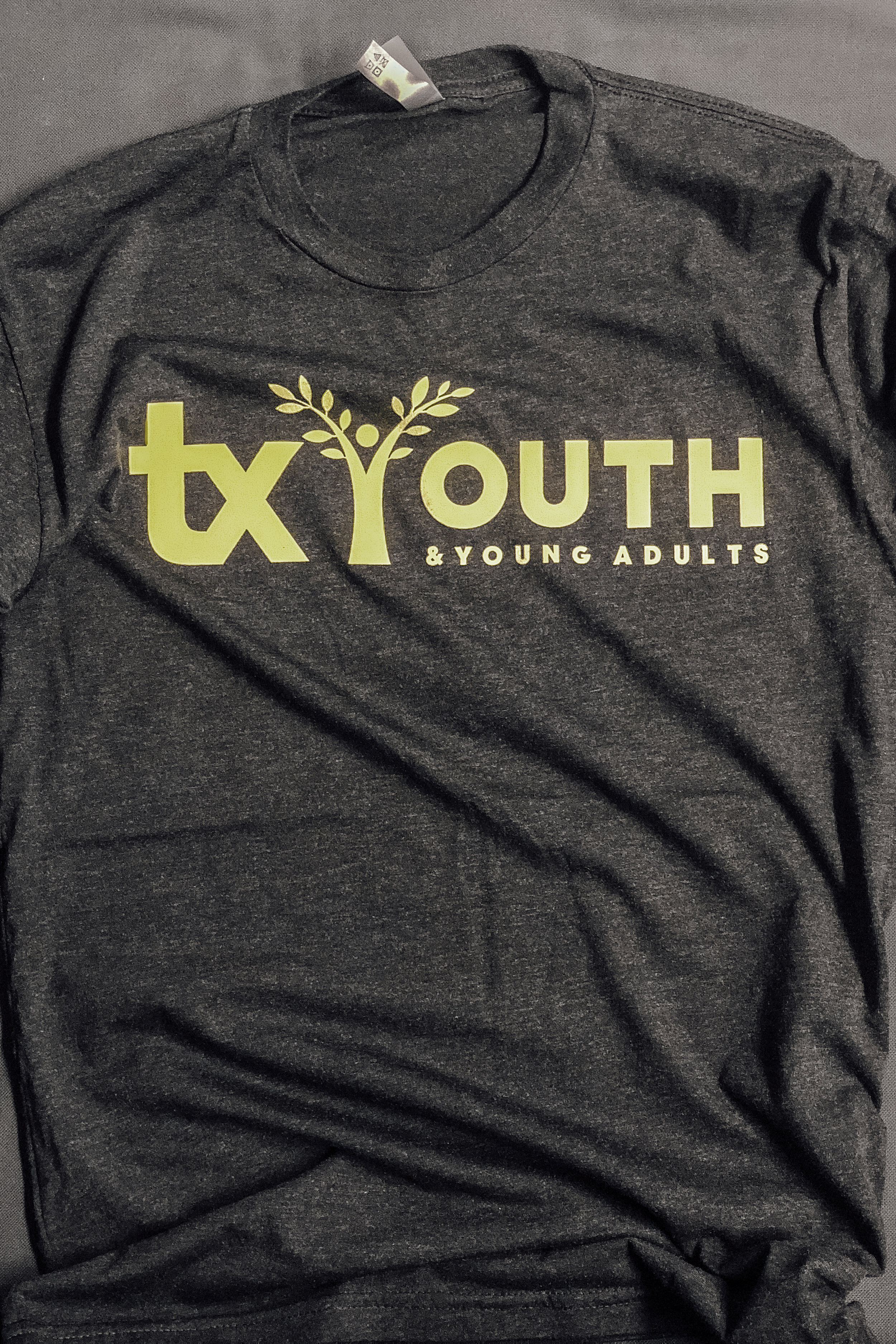 TX YOUTH -  LIME GREEN LOGO (Currently unavailable)    $8.00