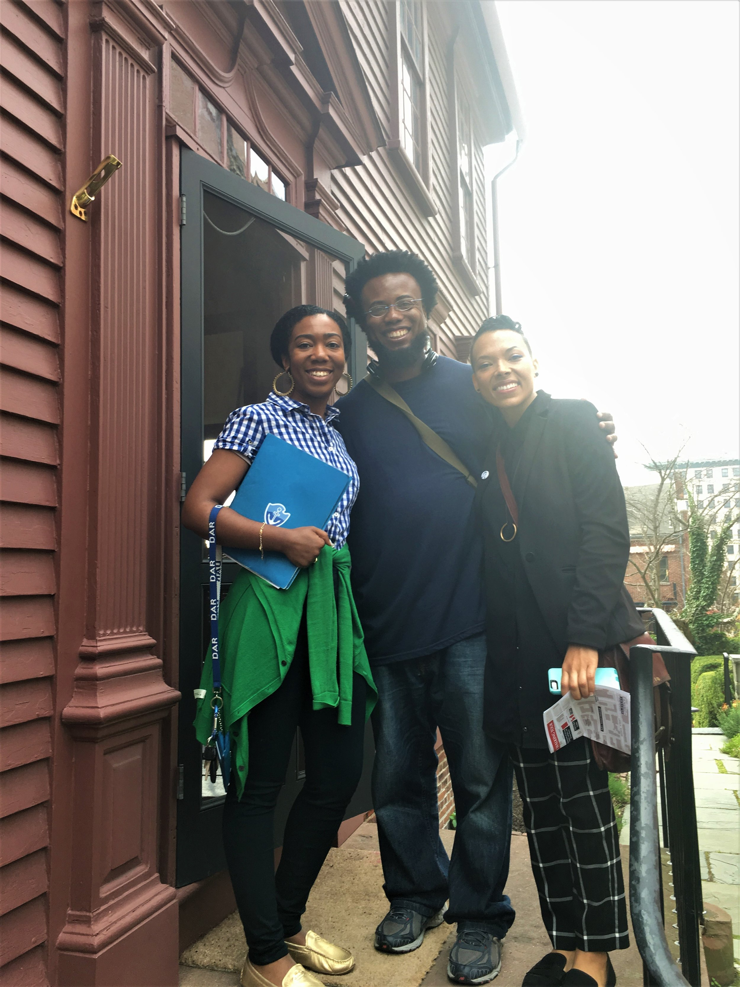 Jaymes and ChE met with public historian and curator, Elon Cook to learn local histories of slavery and the slave trade in Providence, RI. -