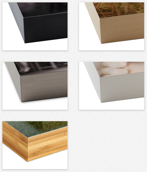 Sleek and Modern - Create your ideal display with 5 different banding options in 2 different depths