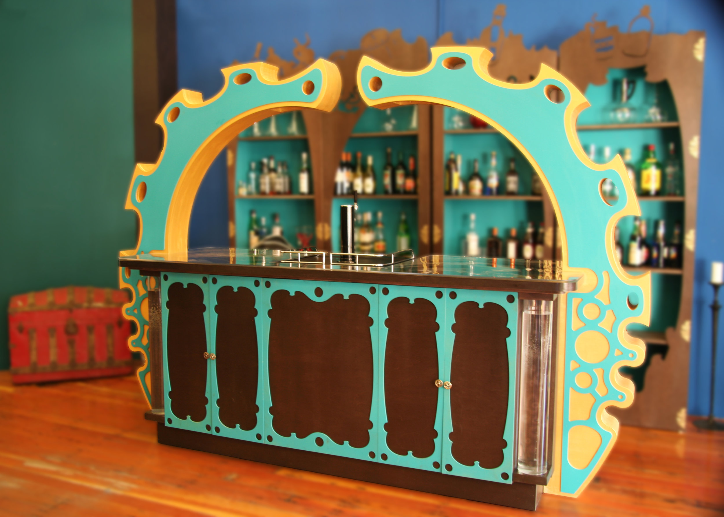 We designed this bar from the depths of our imaginations. We aimed for something cool and unique.
