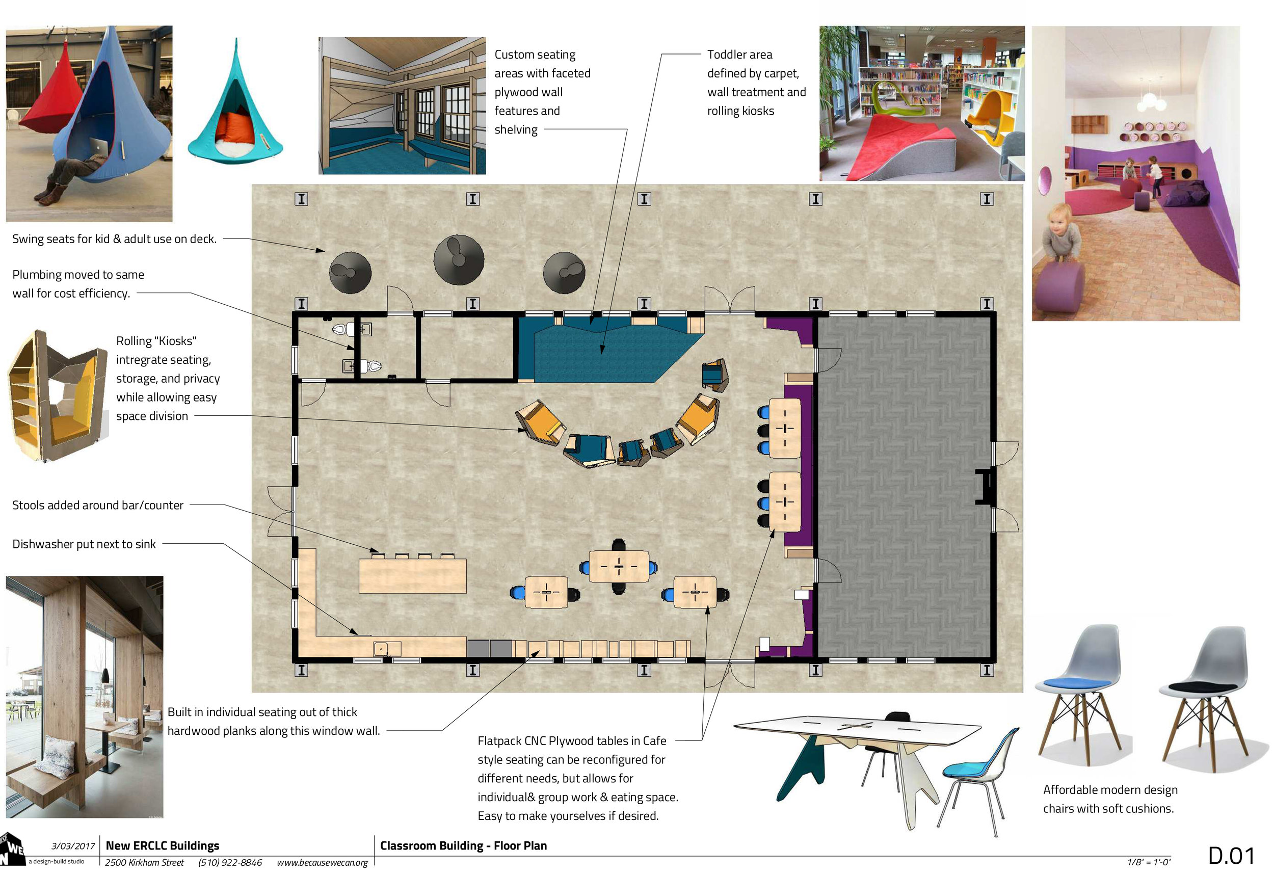 Located in this central valley of CA, this Charter School serves a large community and is in need of more space as they expand. We were brought in to initially do some interior design schemes based on their needs.