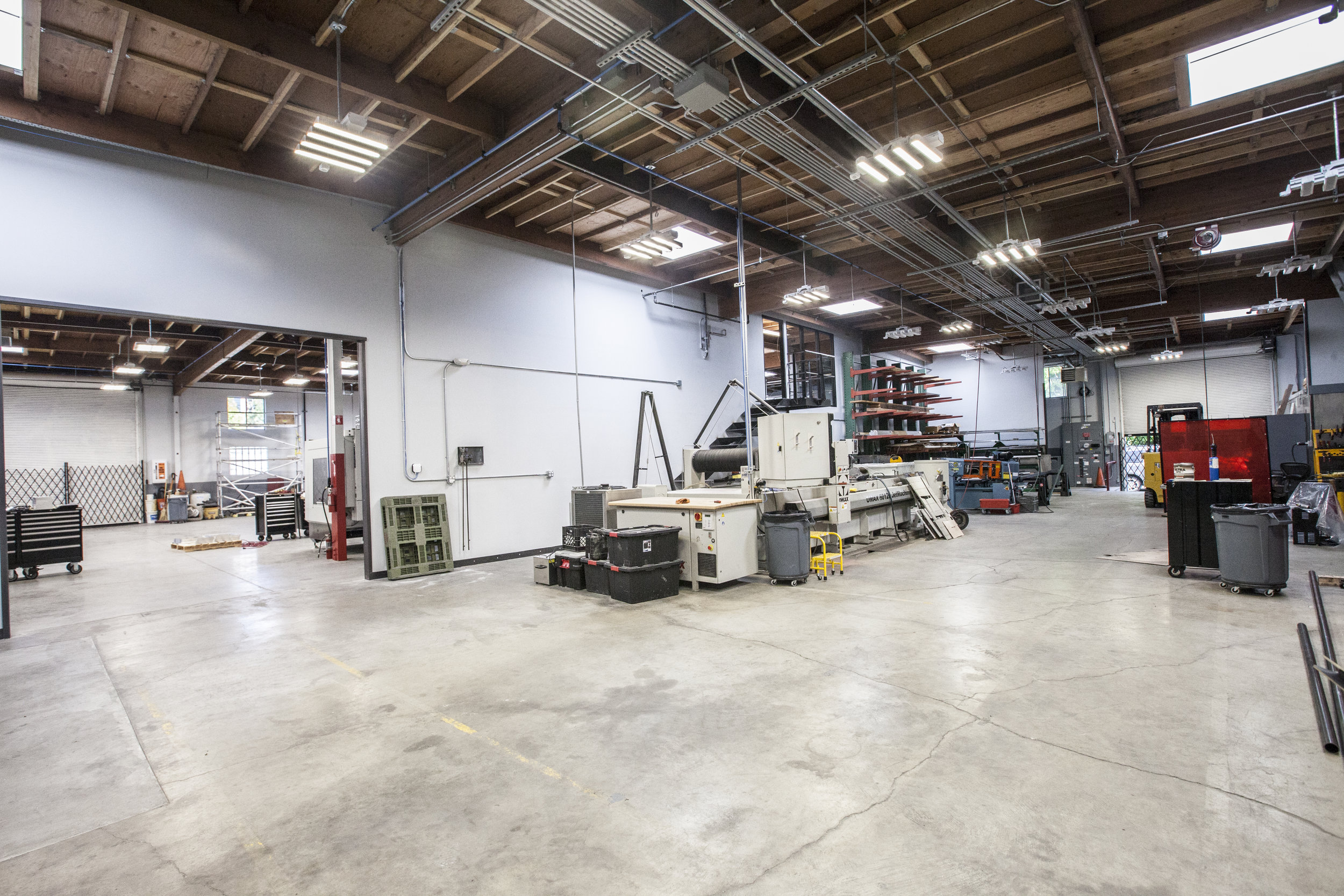 The new space is functional and efficient for this private metal shop.