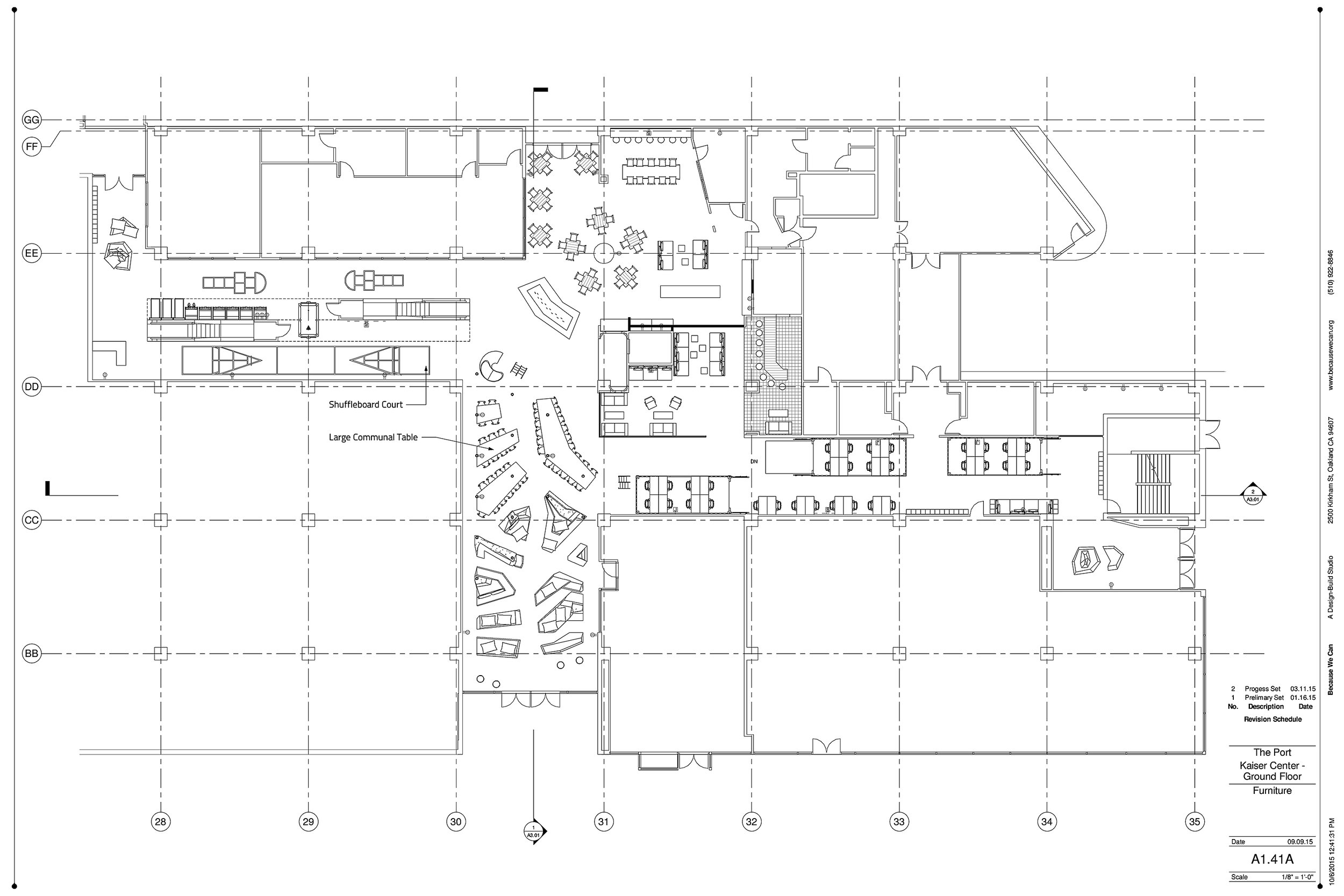 The floor plan of the first floor. From this image it is easy to see how large the space is. We fit 3 shipping containers in just one of the hallways of this floor.