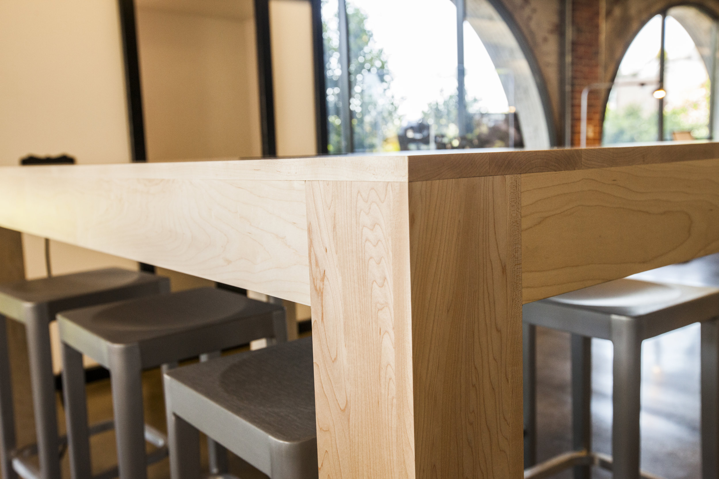 Sharp square edges on this table design.
