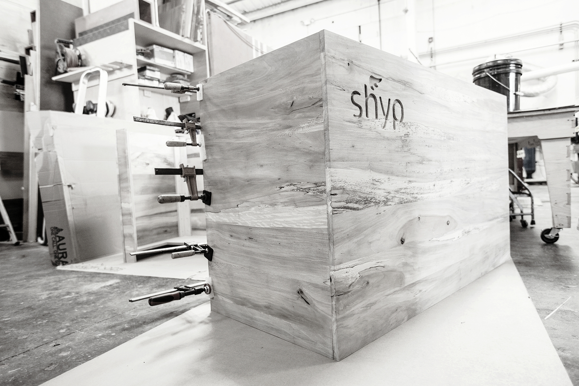 Our fabrication shop is tuned perfectly to realize our designs, mixing CNC joinery and traditional craftsmanship.