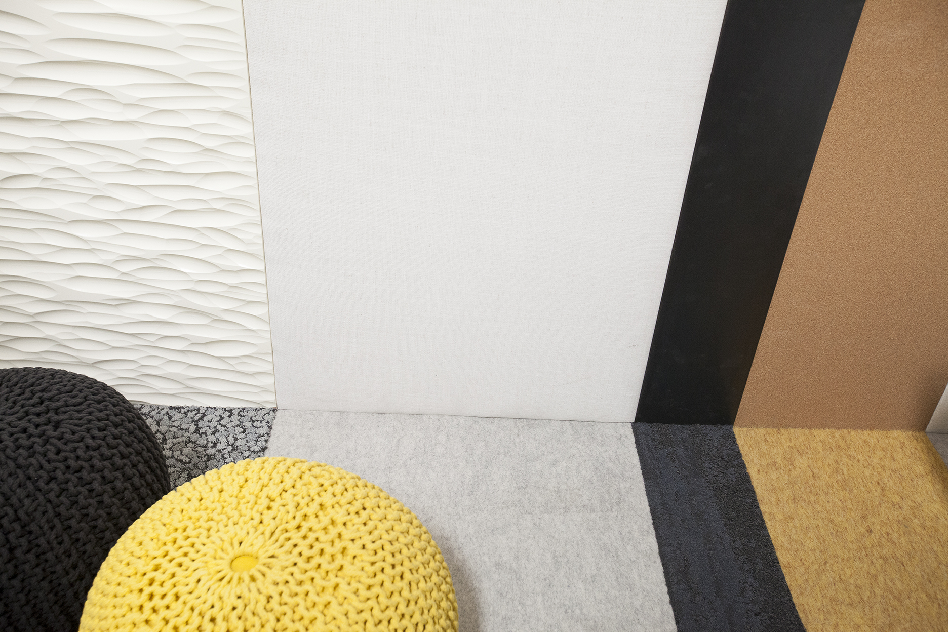 The walls turn into the floor with soft carpeting that matches.