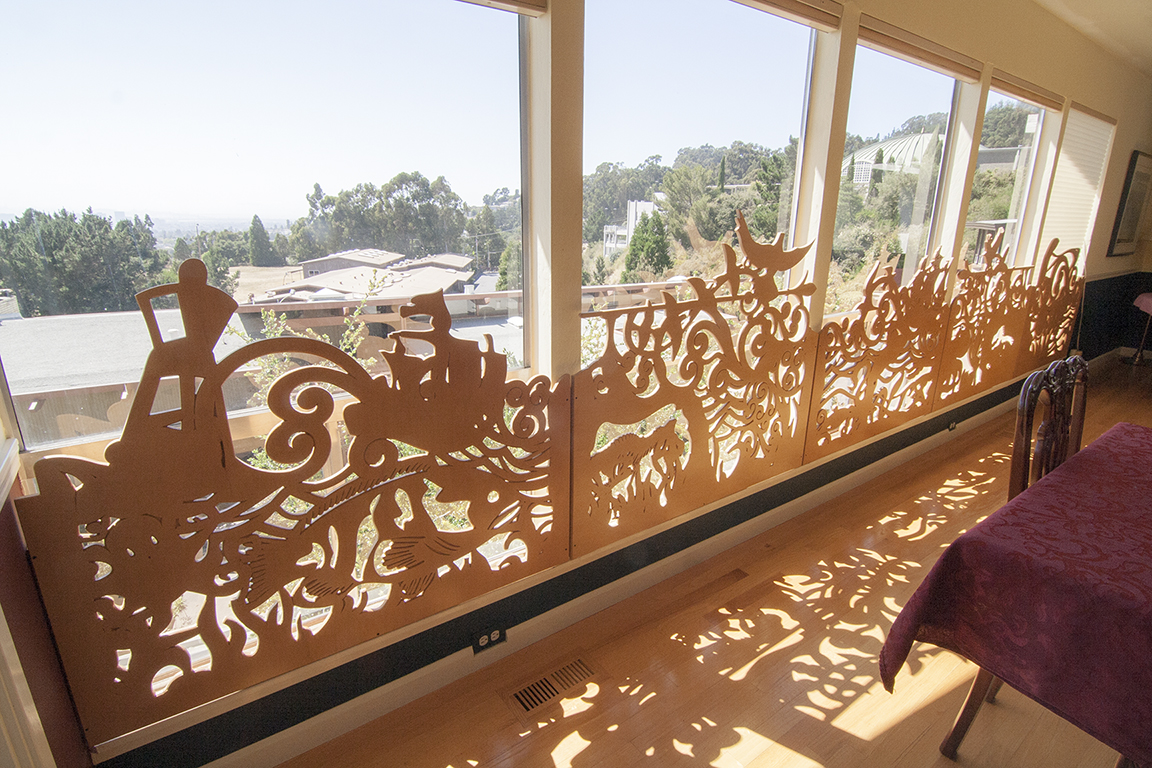 Along the windows, before the larger renovation, we designed and created these fun window screens to protect little children from old single pane glass.