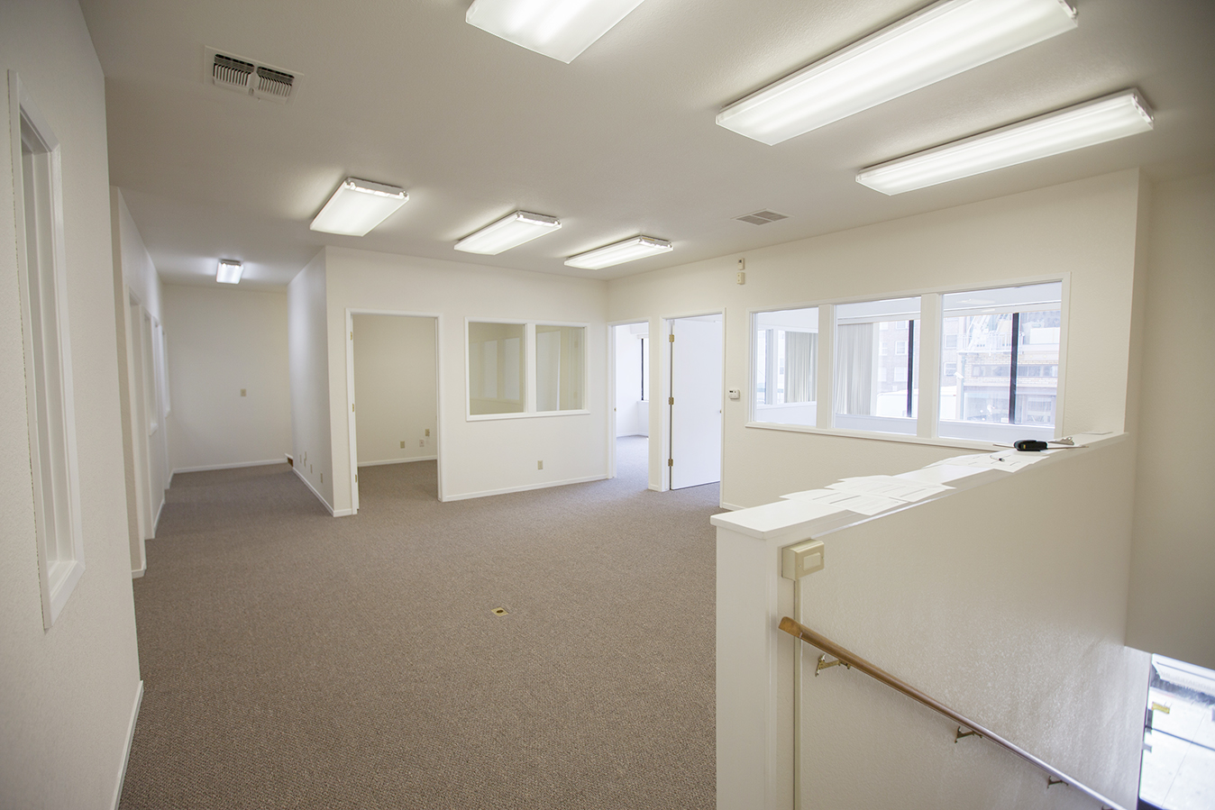 Here is the space before the remodel began. We're still under construction and it's already an improvement!