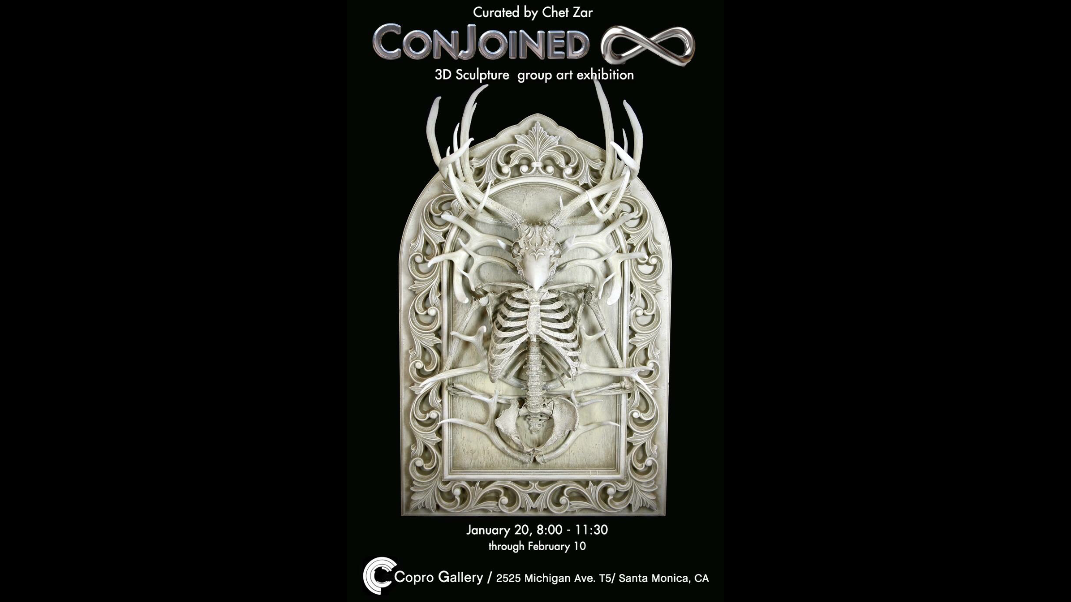 'Conjoined 8' official poster featuring sculpture art by Chris Haas
