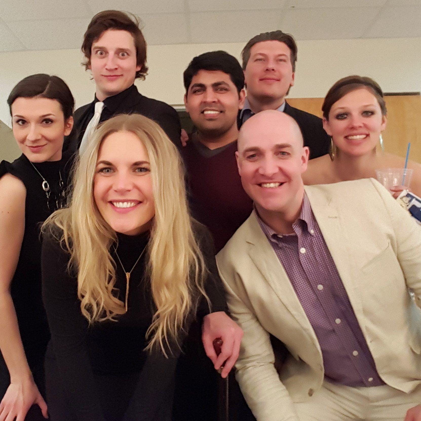 Part of the wonderful cast of  Run For Your Wife  directed by Roxanne Dicke at KTC.