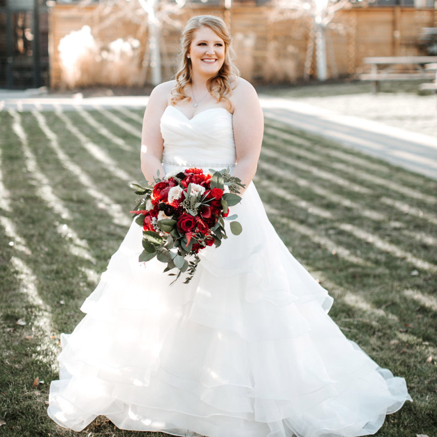 "Haley   ""I cannot event begin to give Wild Hill and Jenni the praise they deserve! My husband and I got married on 12/16/2017 and we decided to go with Jenni after our wedding planner referred her to us. Jenni was quick to respond and we met to discuss floral needs a few days after our initial contact. I came prepared with only a few pictures I'd found on pinterest, and Jenni ran with it! And lucky she did, because I knew absolutely nothing about flowers or what I wanted. She was an absolute pleasure to work with, always quick to respond and willing to entertain my ideas or last minute changes. The whole night our guests kept asking, ""Who did you use as your florist?"" Thank you for everything, Jenni! You did a fantastic job. We could not have been happier."""