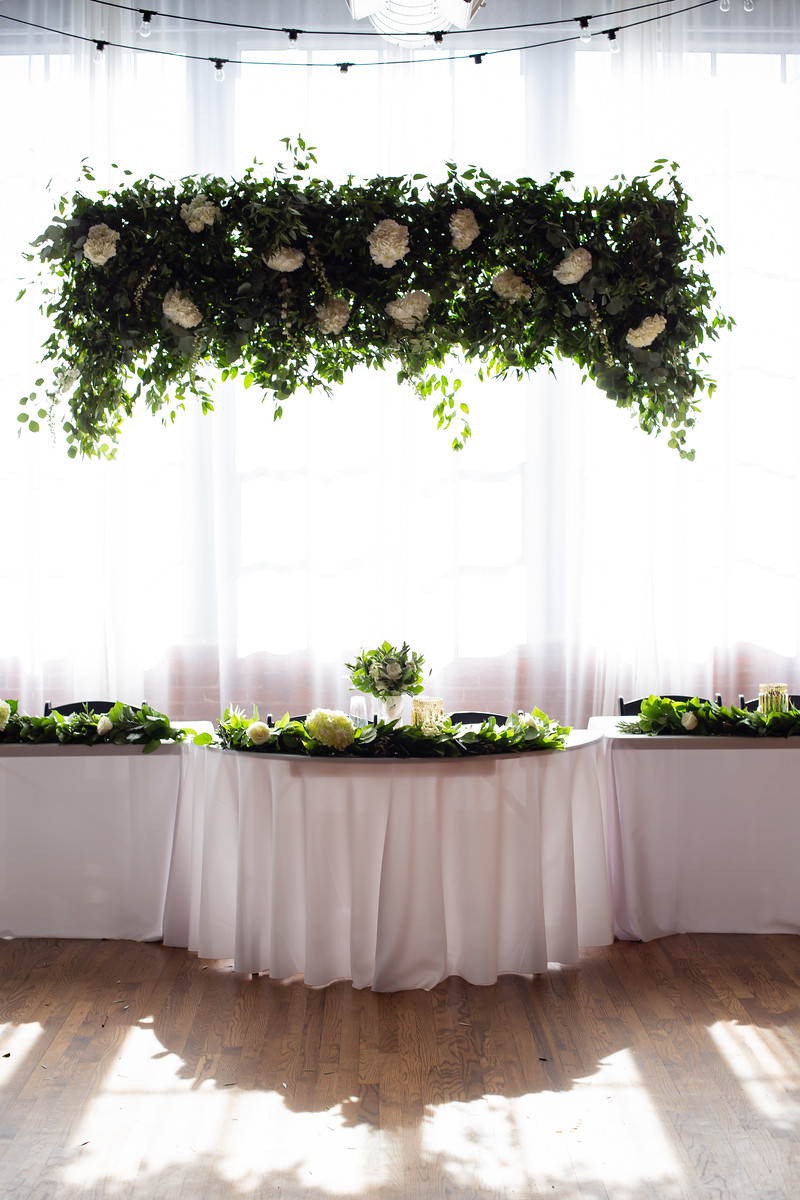 6.Hanging Greenery and Bloom Installation