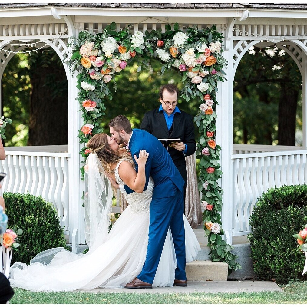 The Knot   A Bright Outdoor Wedding at The Hawthorne House in Parkville, Missouri