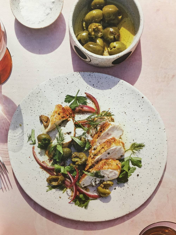 pollo con aceitunas dining in alison roman