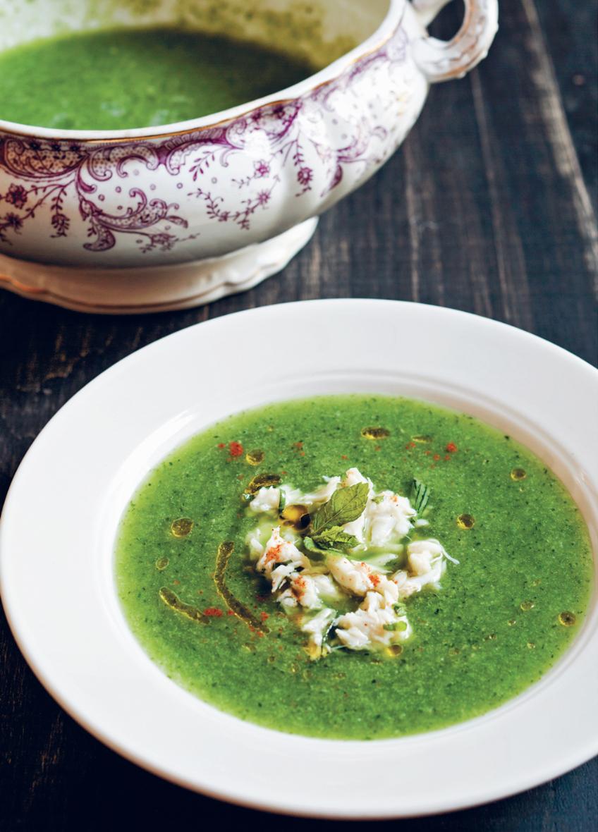 Sopa de pepino y cangrejo Brooklyn Rustic