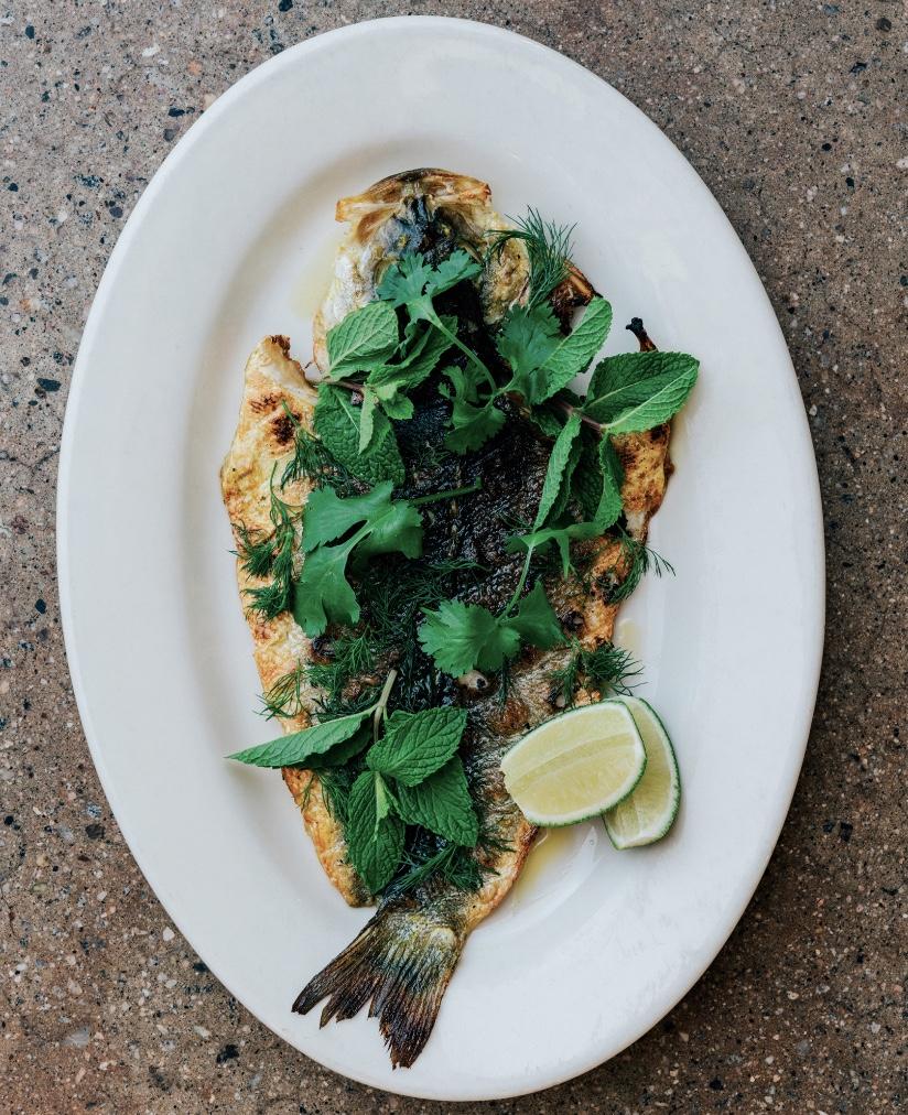 turmeric sea bass lubina con cúrcuma