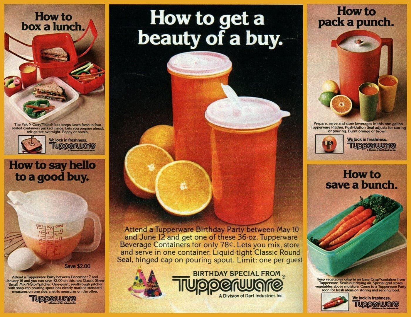 tupperware print ad