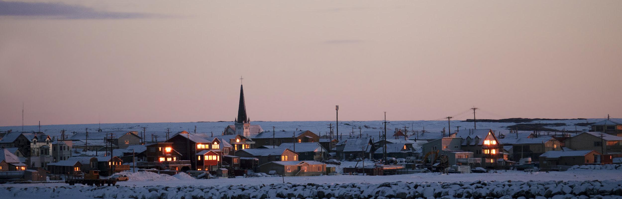 Winter solstice in Nome, Alaska