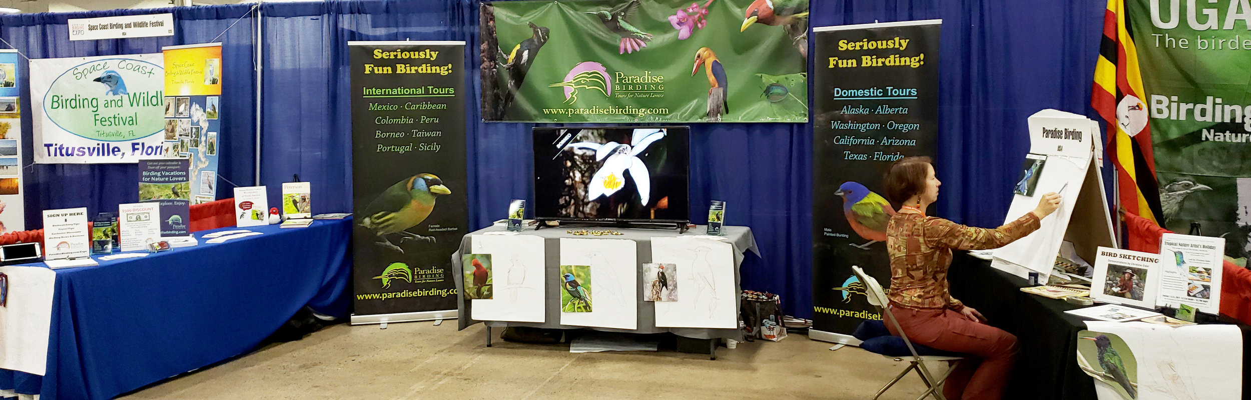 Paradise Birding booth at the 2018 American Birding Expo in Philadelphia, PA