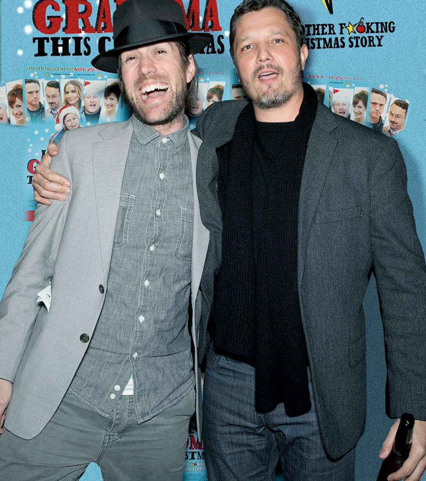 Mark Scrivo and Dominik Tiefenthaler at the Premiere of Let's Kill Grandma this Christmas.