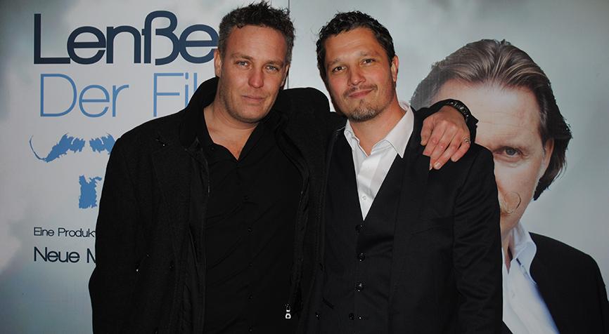 Christian Storm and Dominik Tiefenthaler at the Premiere of Lenssen, der Film.