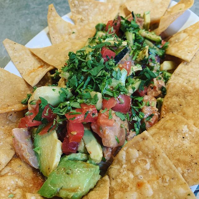 it's so hot today... Ceviche sounds just the right thing to be eating right now. #tina #ceviche #mexicanfood #berkeley #tacubayataqueria #fourthstreetshops