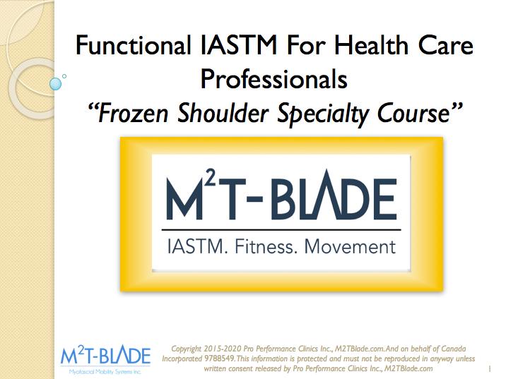 Frozen Shoulder Specialty Course