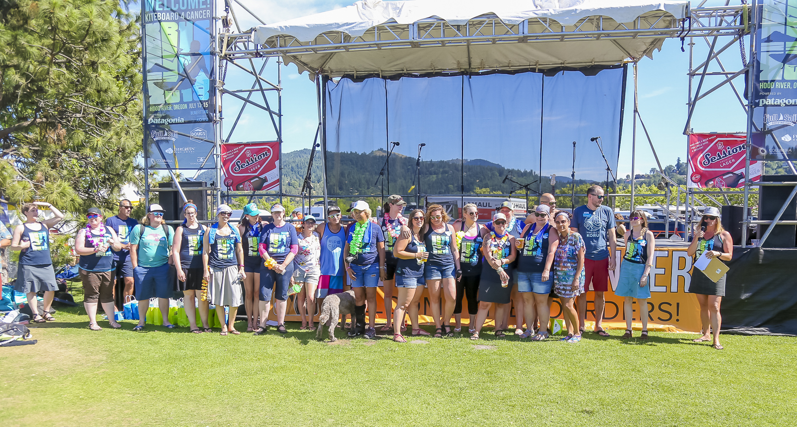 Camp Koru Alumni came from all over the country to be at Kiteboard 4 Cancer!