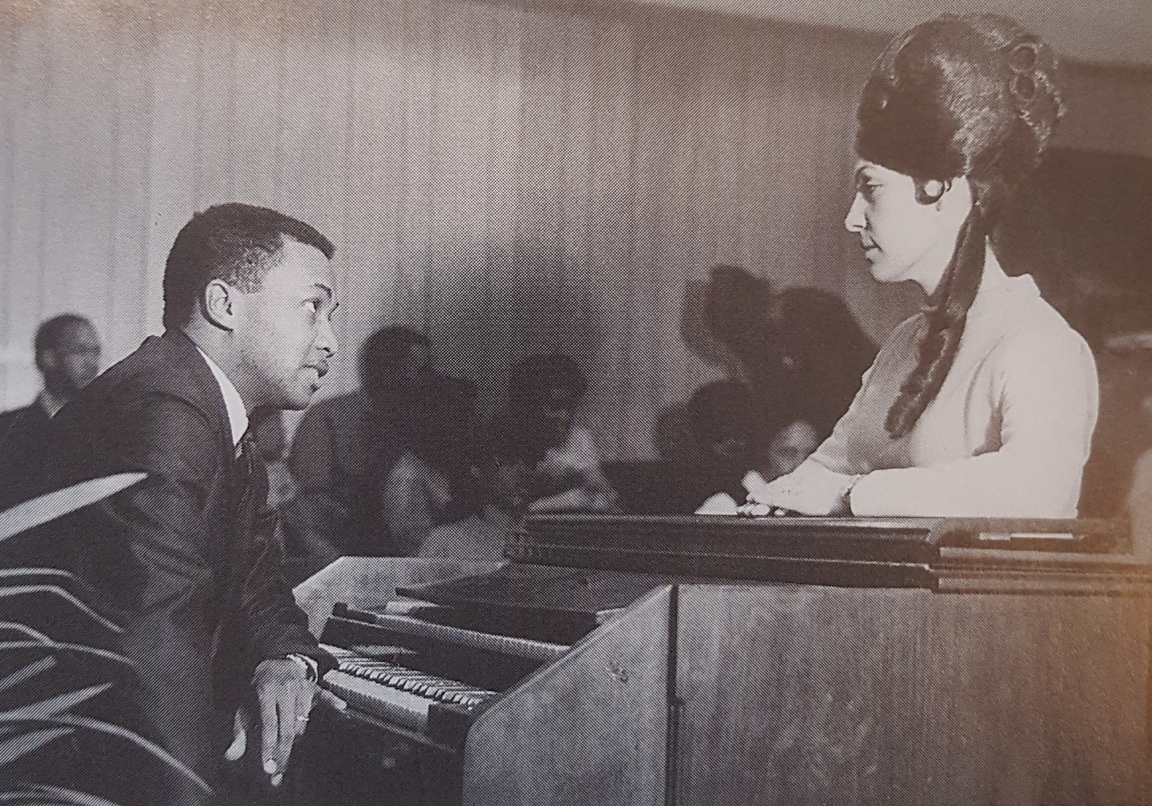 "Dottie And Rev. Greer Rehearsing ""It's The Soul Of Me"" 1968"