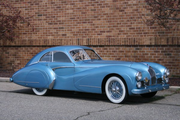 The Talbot Lago T26 Grand Sport 110114 in mint condition.