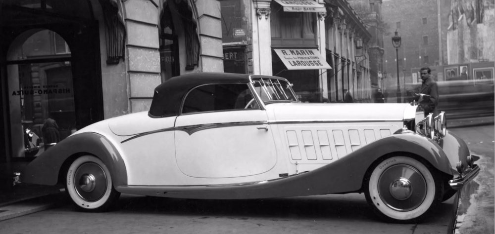 (1935) Hispano Suiza K6 Cabriolet Sport 2 Places, Chassis 15049