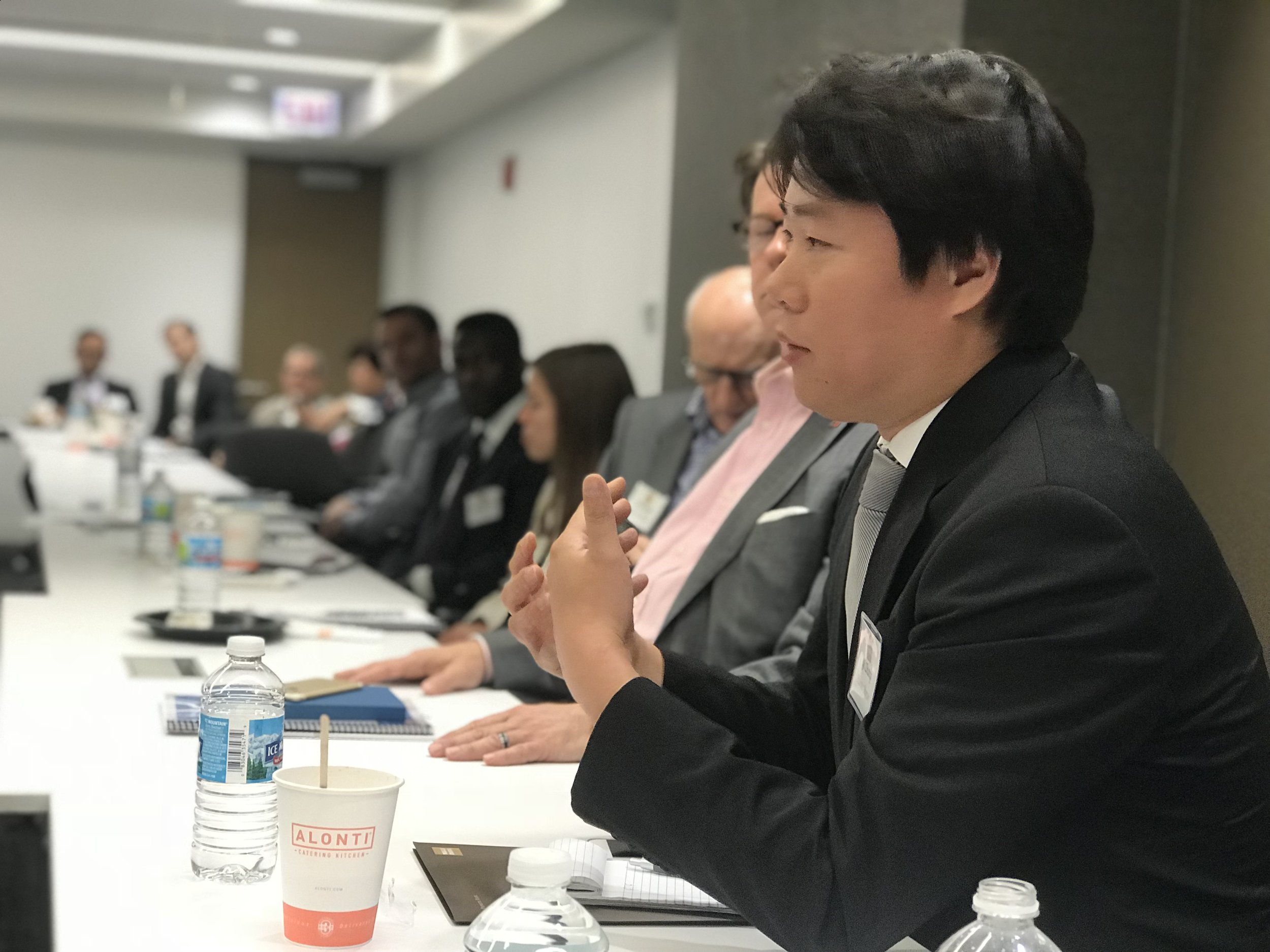 Yi Zhang, Principal of Chinese Business Services for Plante Moran, speaks on assessing potential investments in China (10/11/2018, Mexico-China Trade Relations).