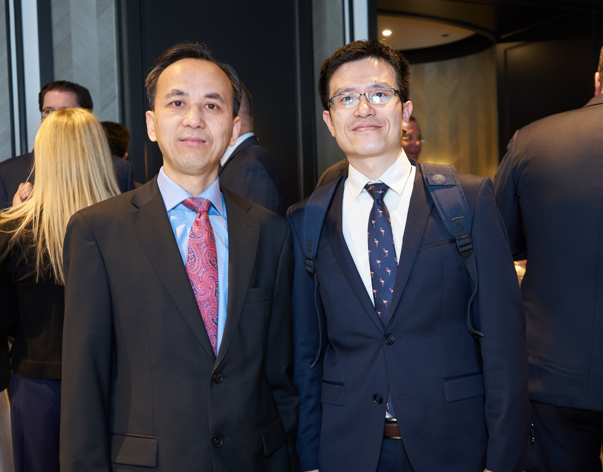 Jun Liu with Xiao Jie Sun, Vice Commercial Consul of the People's Republic of China