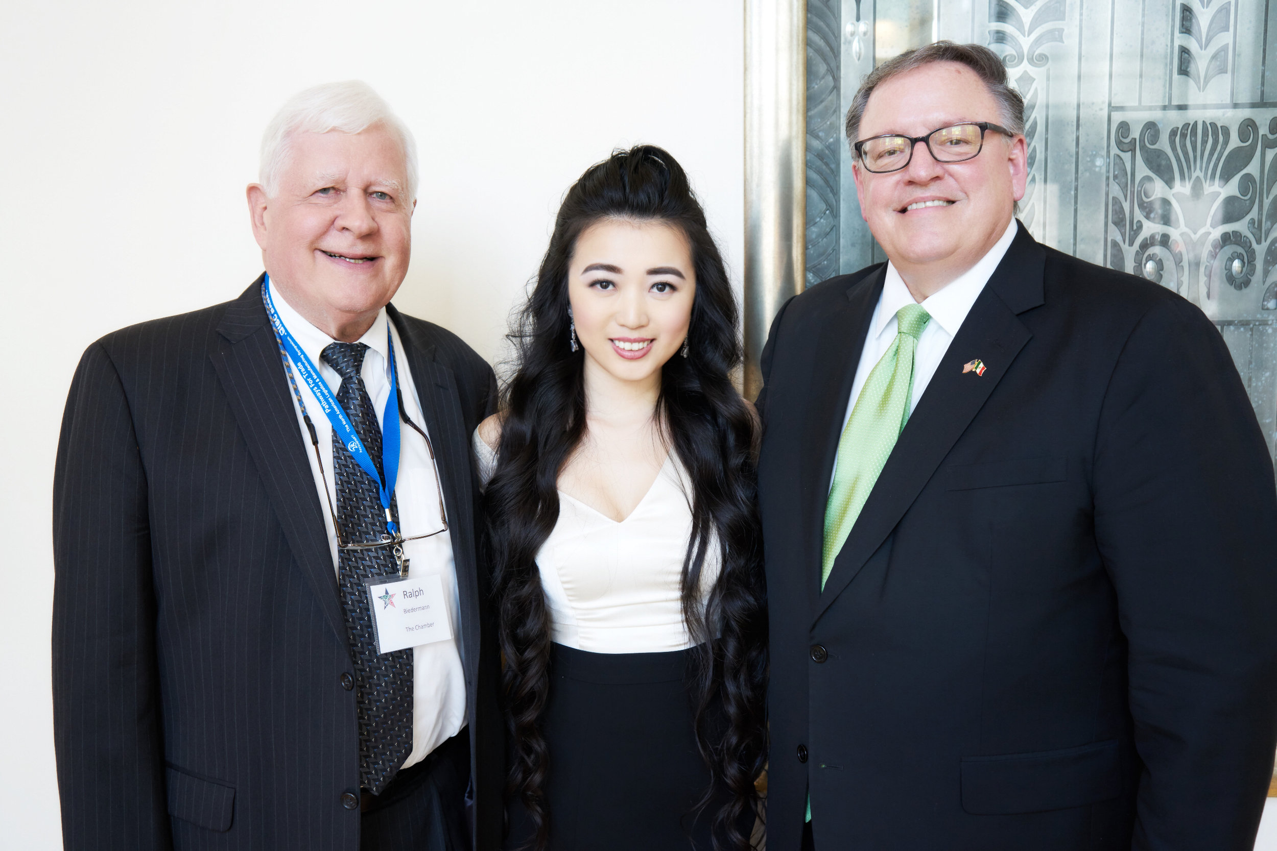Ralph Biedermann, Elizabeth Jia, Jim Ryan
