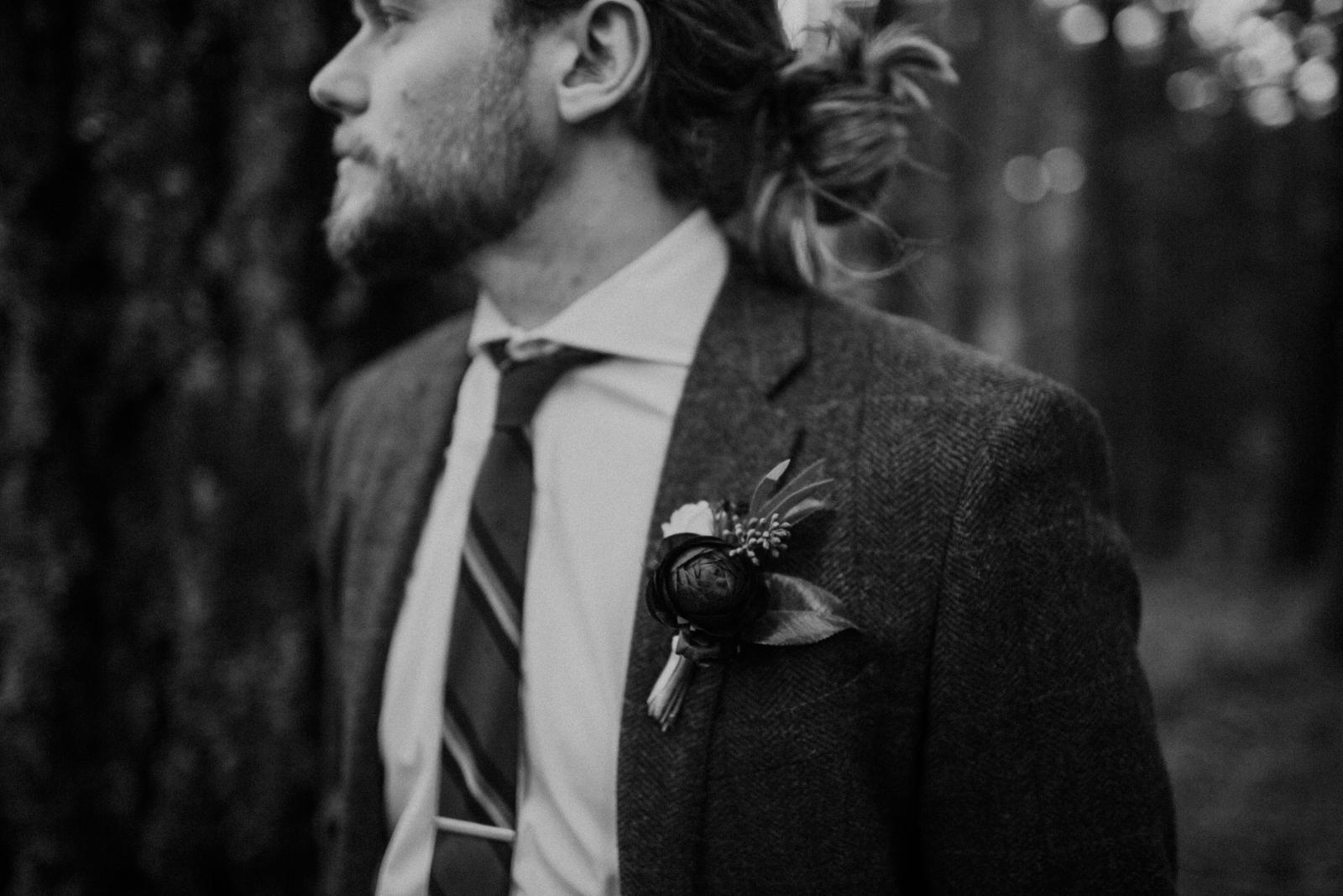 Luke on his wedding day