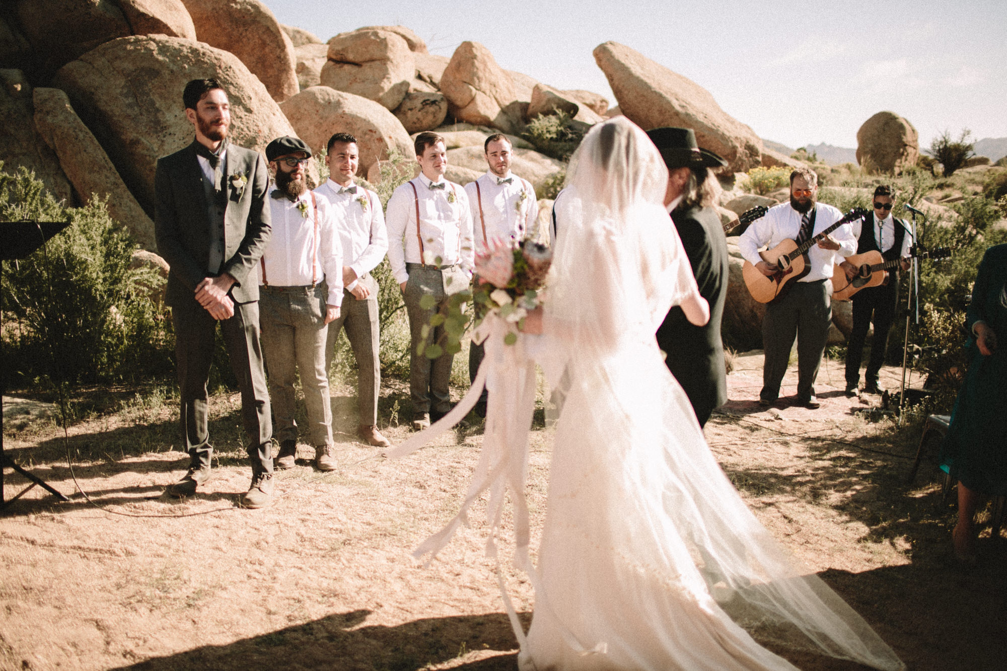 wedding in pioneertown california