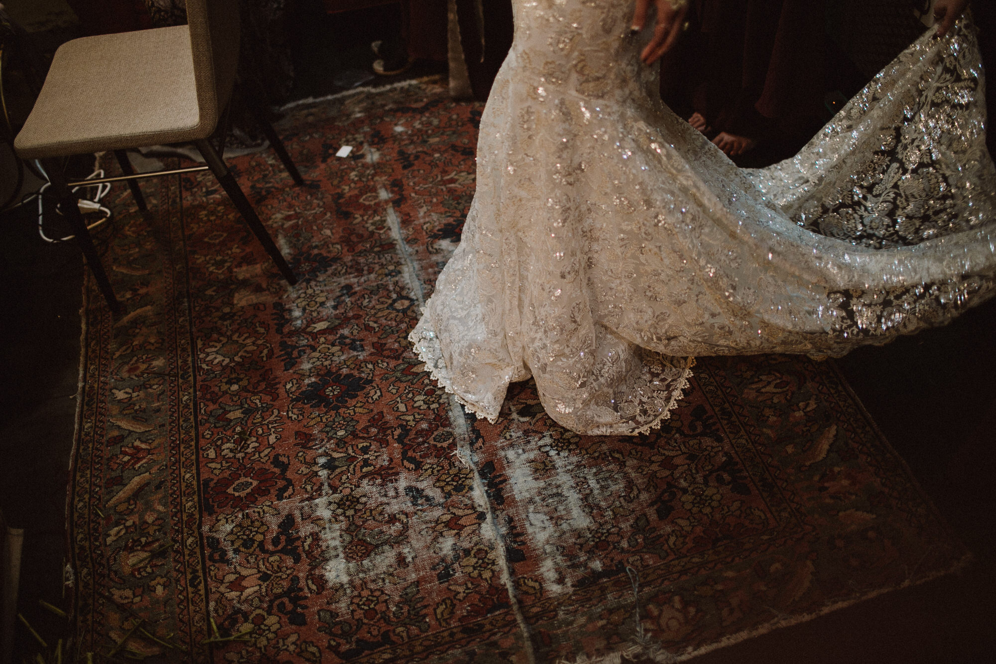 beautiful wedding dress details