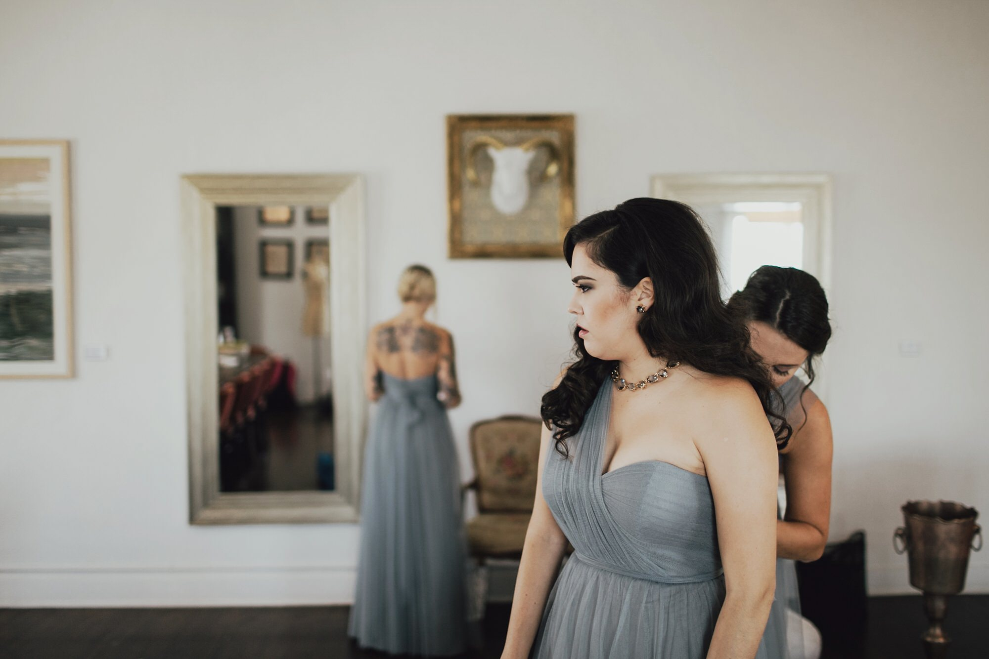 grey bridesmaid dresses in spring