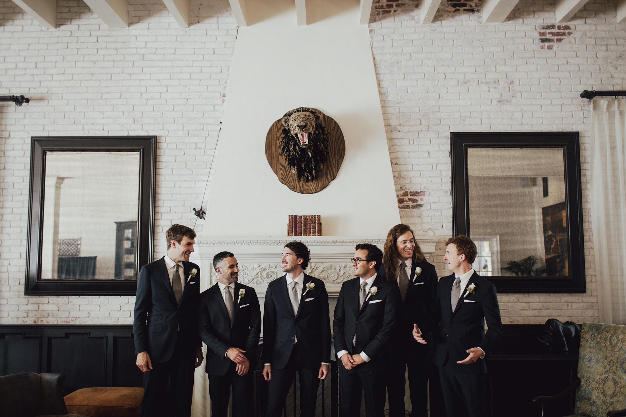 groomsmen at the ebell