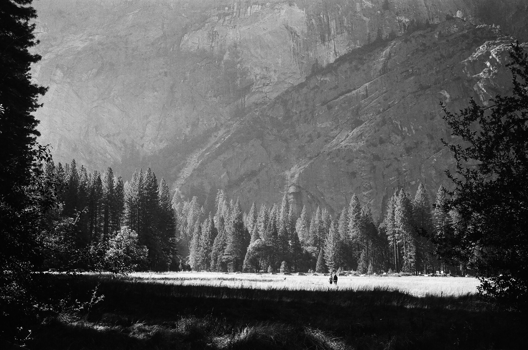 sunlight in yosemite valley