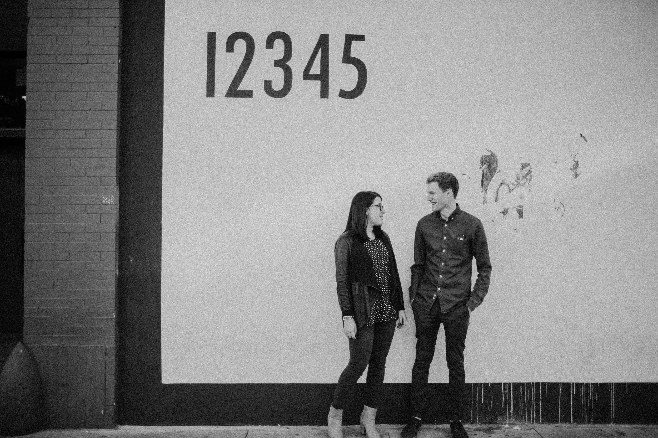 engagement photography in the arts district