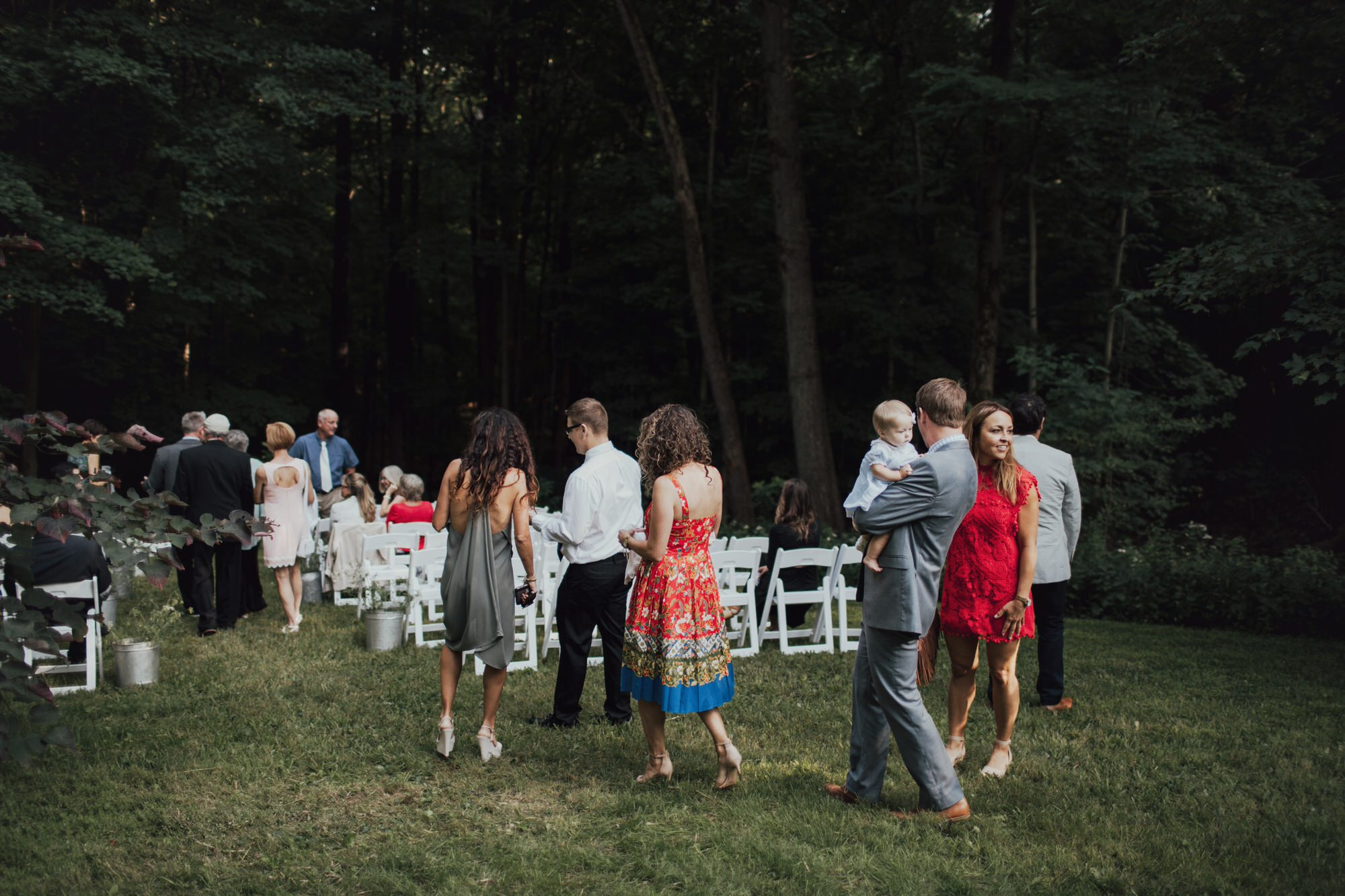 wedding guests in new york city