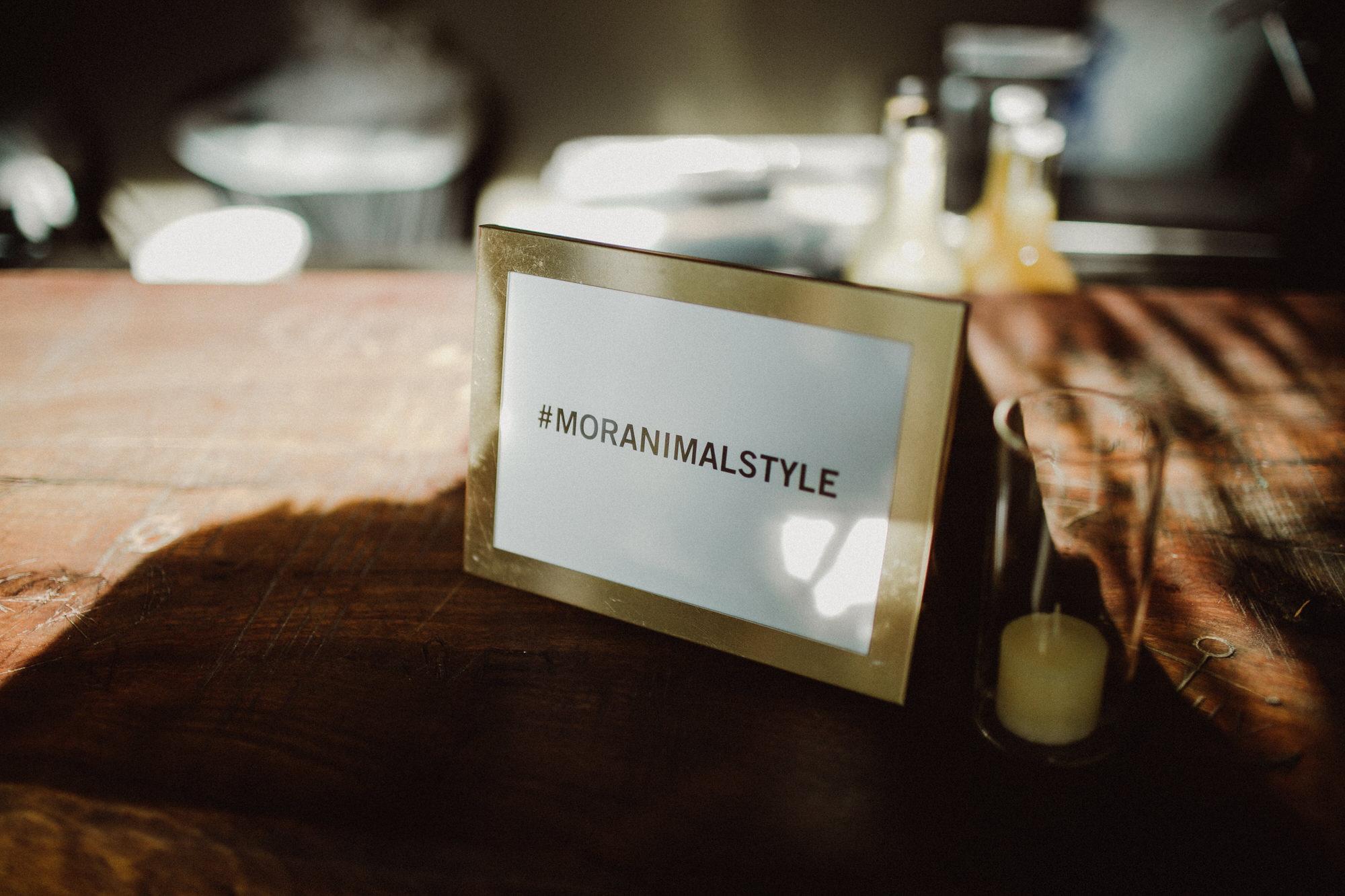 moranimal style wedding hashtag