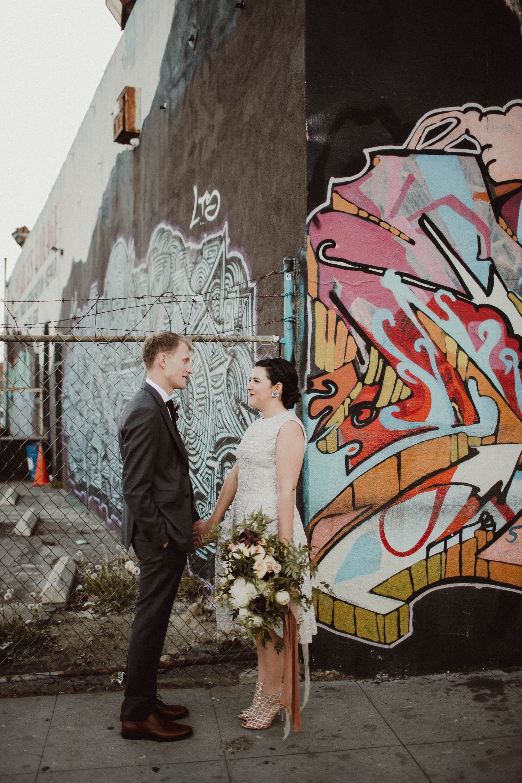 arts district wedding photography