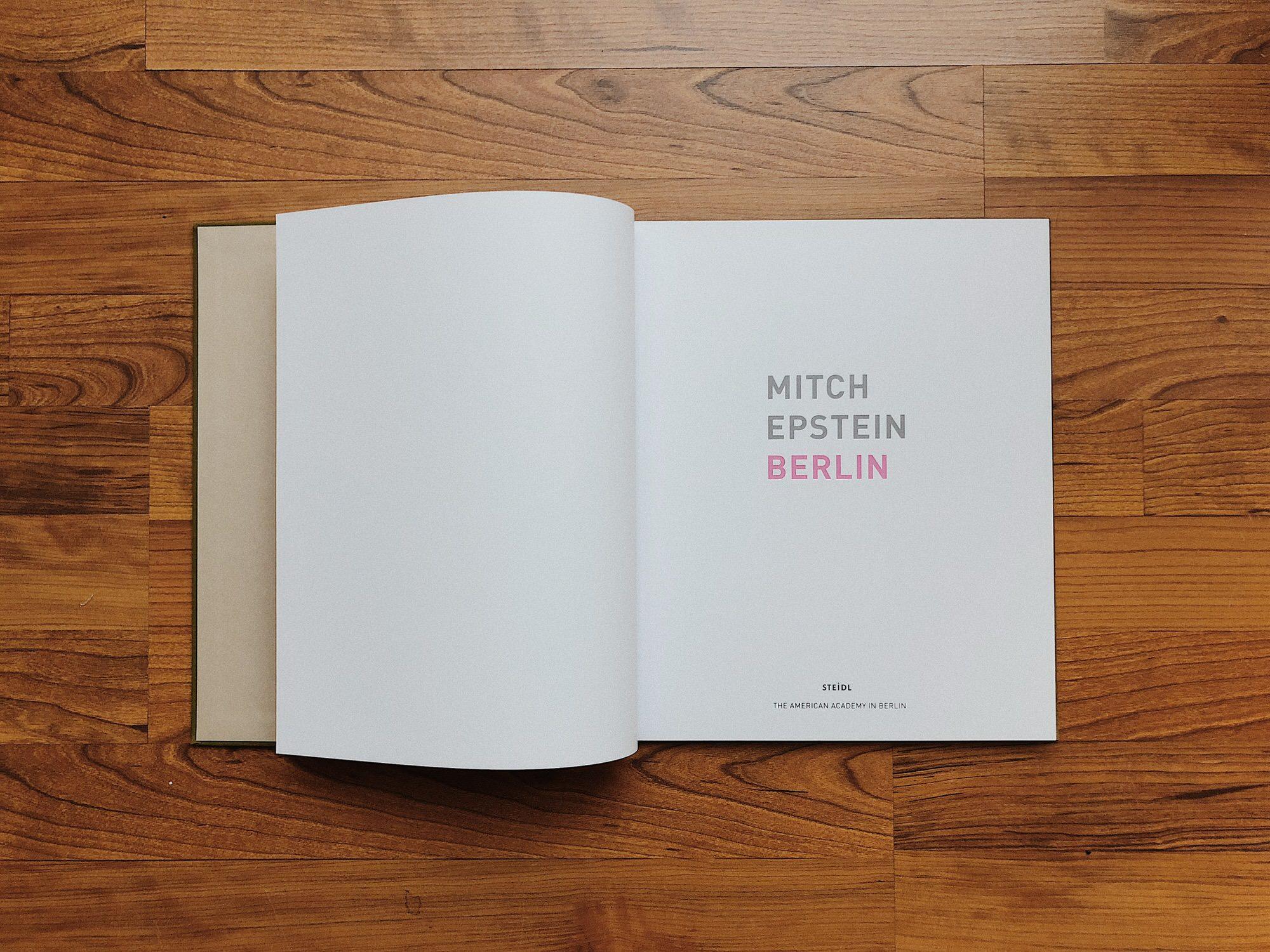 Amazing design of photography book Berlin