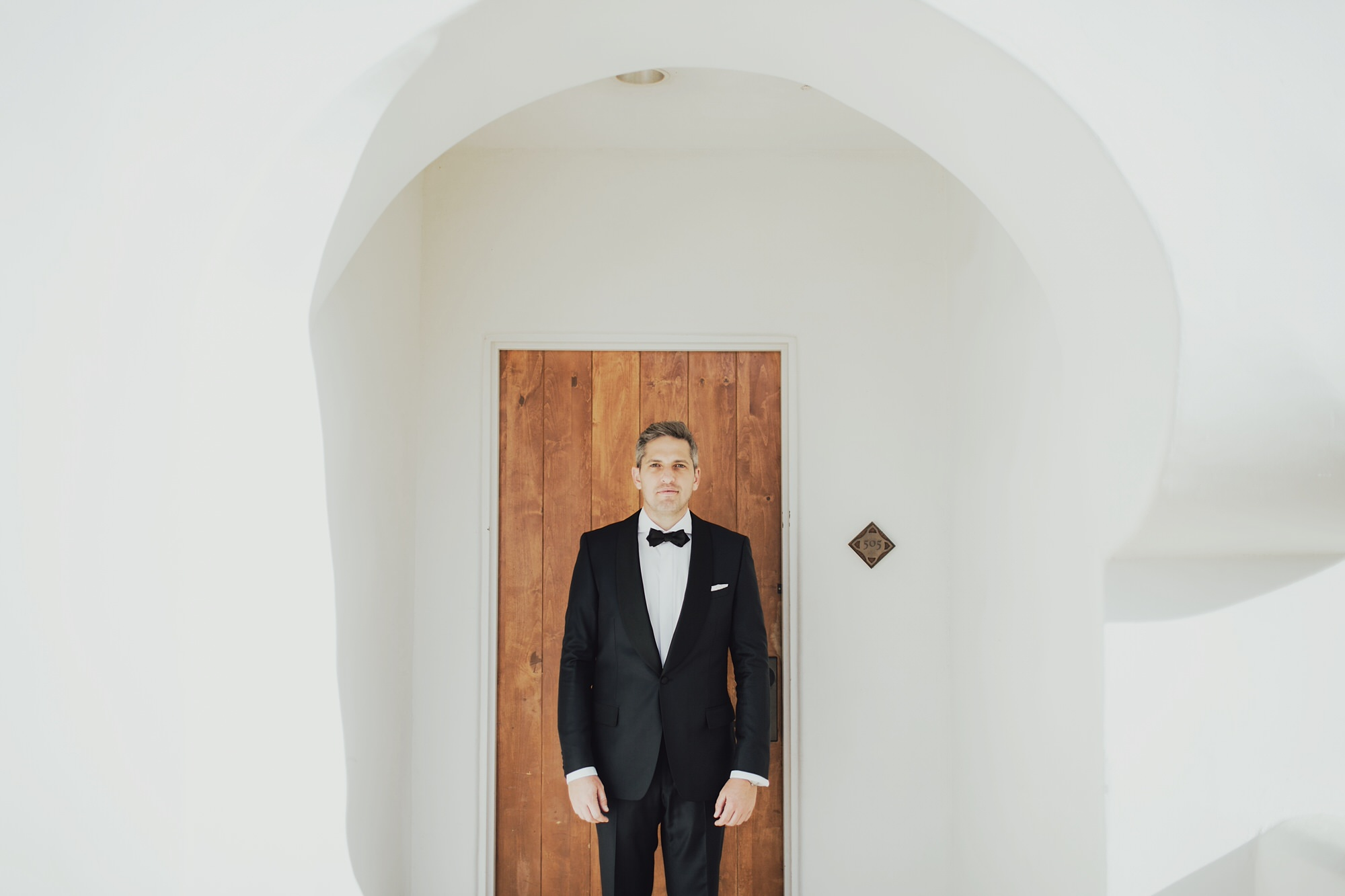 Portrait of Andy on his wedding day