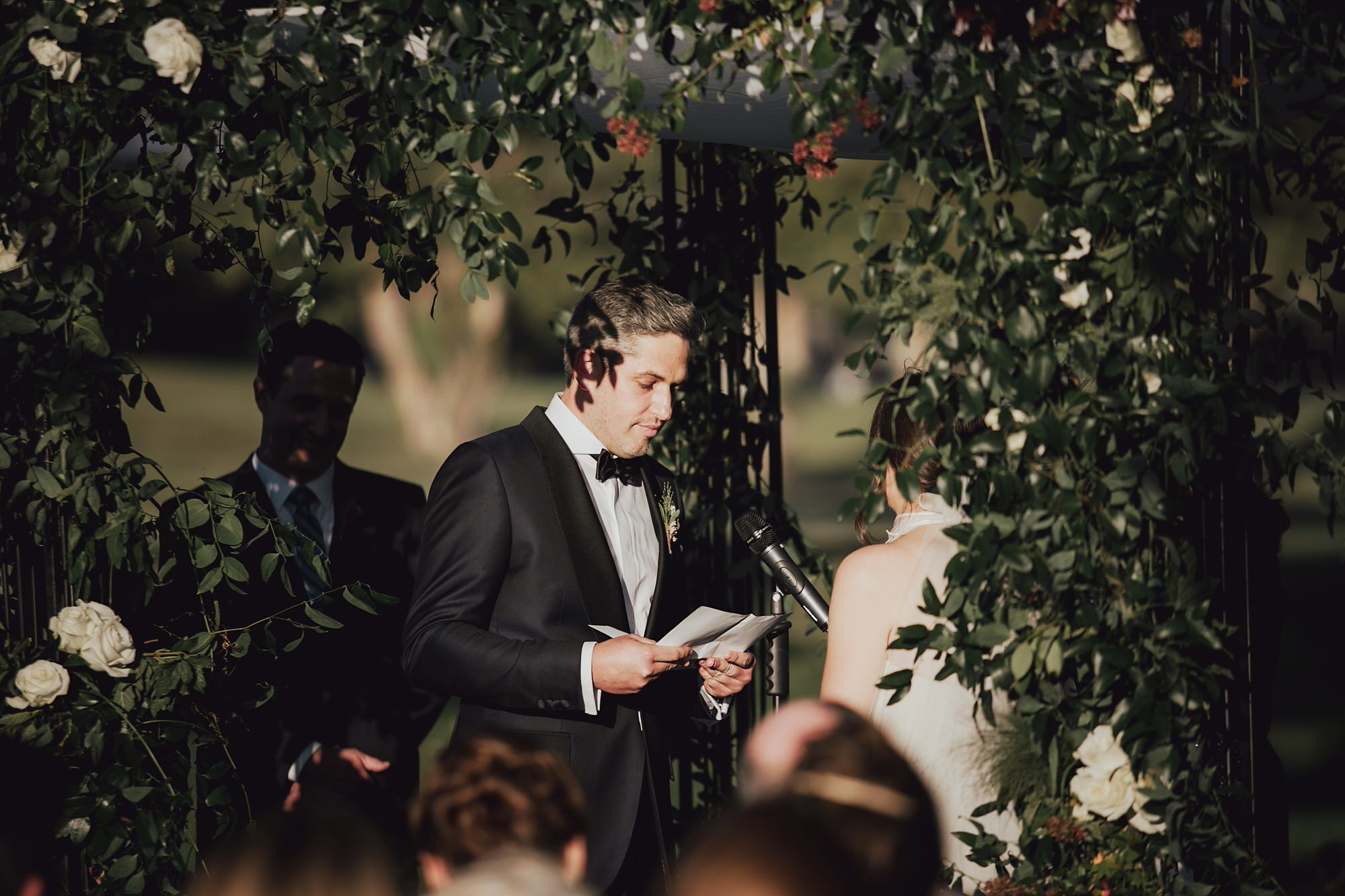 Andy giving his personal vows