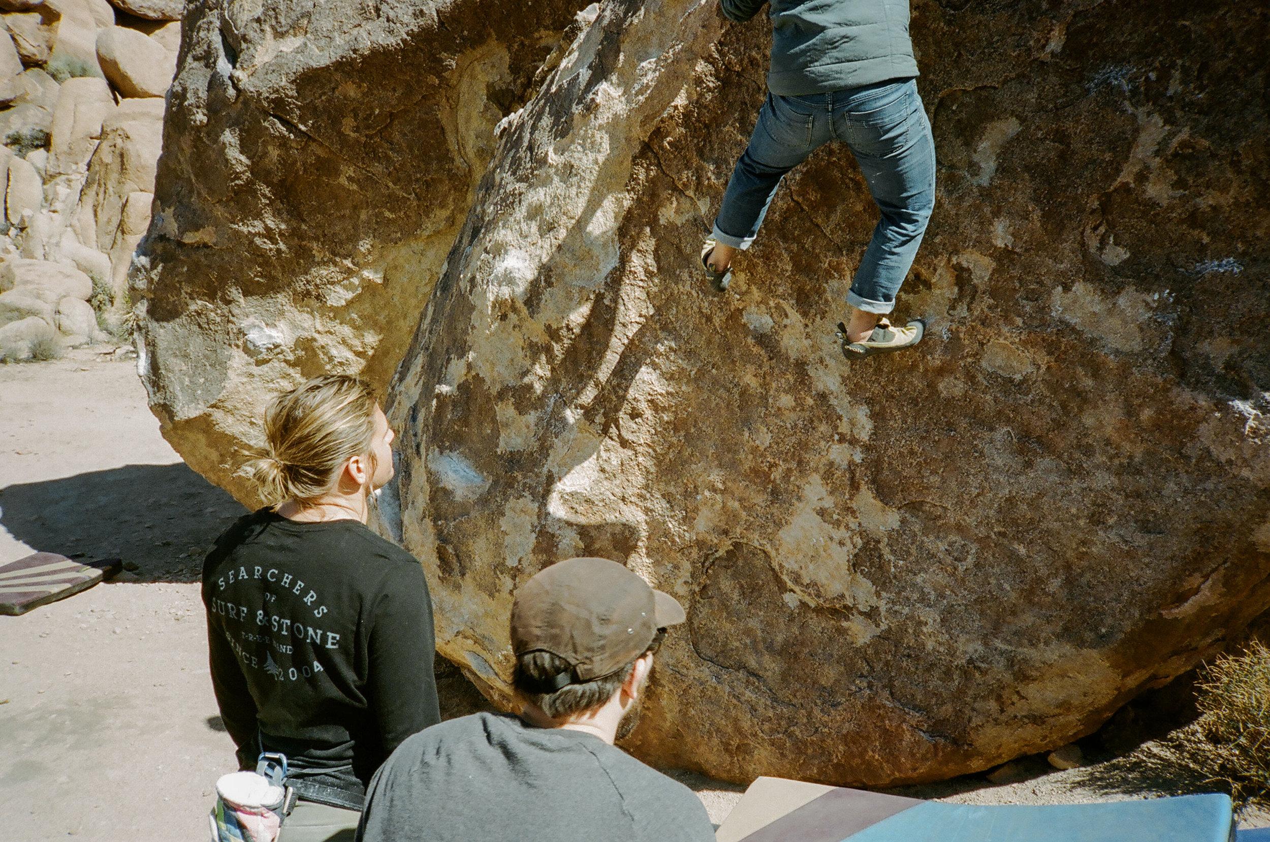 Seabass and Caleb spotting Shawn